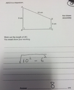 GCSE Maths example Q