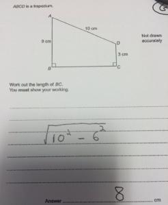 GCSE Maths example Q
